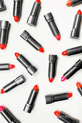 Lipstick Makeup In Abstract Poster