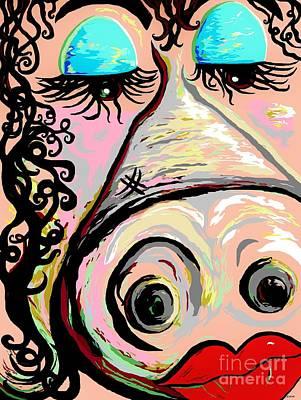 Lipstick On A Pig Poster by Eloise Schneider