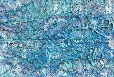 Poster featuring the painting Liquid Abstract #22617 by Robert Anderson