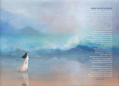Liquid Silence Listening Poem Poster by Korrine Holt