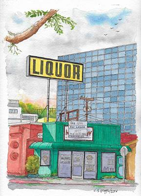Liquor For Lease In Burbank, California Poster by Carlos G Groppa