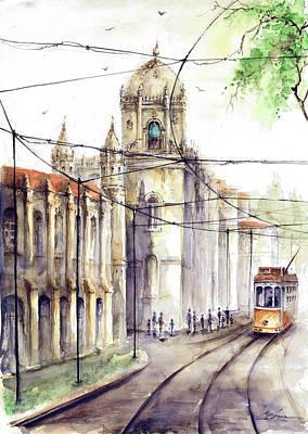 Lisbon Belem Jeronimos Tram Poster