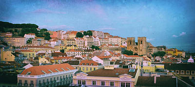Lisbon Panorama Poster by Carlos Caetano