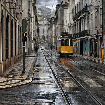 Poster featuring the photograph Lisbon Streets by Jorge Maia
