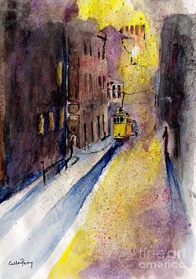 Lisbon Tram Poster by Callan Percy