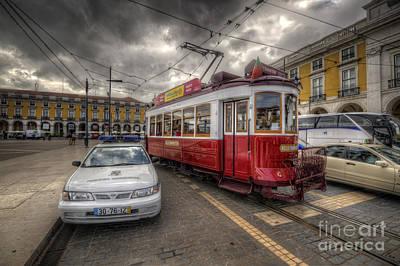 Lisbon Tram Poster by Yhun Suarez