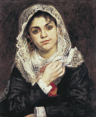 Lise In A White Shawl, 1872 Poster by Auguste Renoir