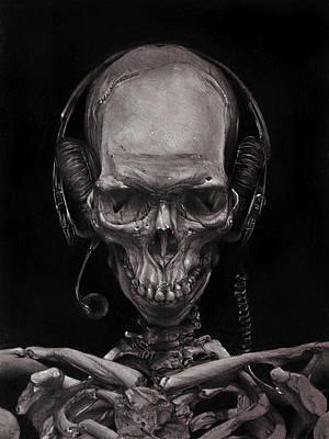 Listen 17 - Self Portrait 41,  Dec 2016 Poster by Brent Schreiber