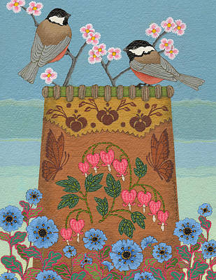 Poster featuring the painting Little Bird by Chholing Taha
