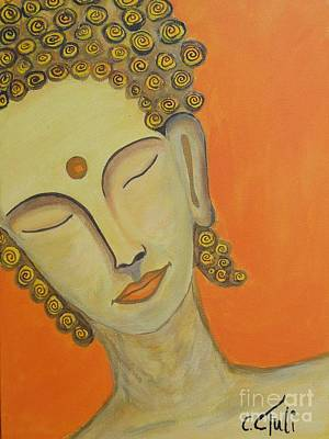 little Buddha Poster by Claudia Tuli