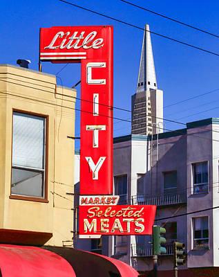 Little City Market North Beach San Francisco Poster