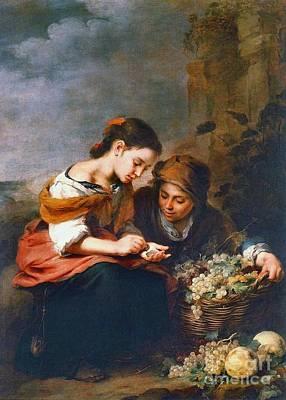 Little Fruit Seller 1670 Poster by Padre Art