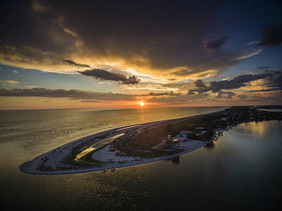 Little Gasparilla Island Point Sunset Poster by Nick  Shirghio