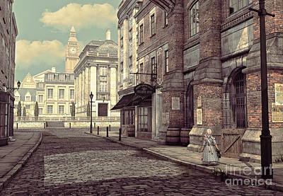 Little Girl In London Poster by Jutta Maria Pusl