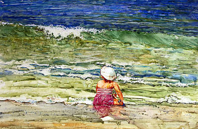 Little Girl On The Beach Poster