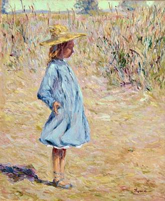 Little Girl With Blue Dress Poster