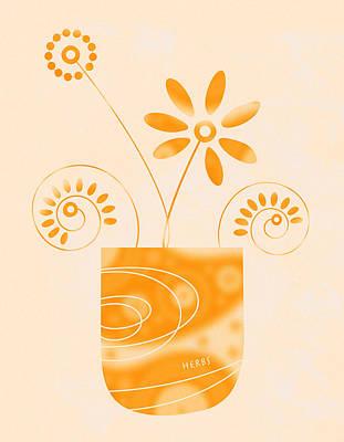 Little Herb Garden Poster by Frank Tschakert