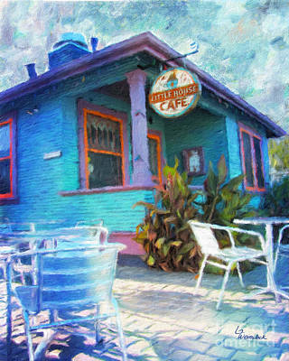 Little House Cafe  Poster by Linda Weinstock