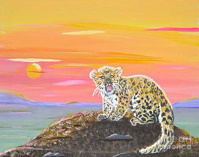 Poster featuring the painting Little Leopard by Phyllis Kaltenbach