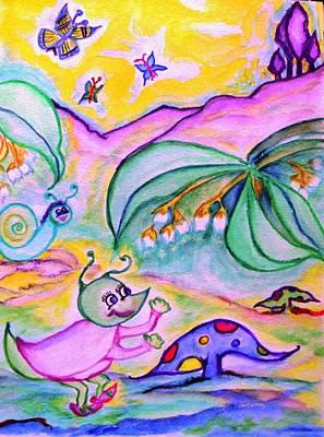 Little Miss Cricket Poster by Helena Bebirian