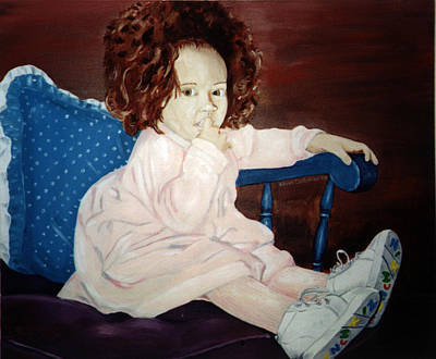 Poster featuring the painting Little Miss Hassler by Kevin Callahan