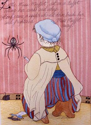Little Miss Muffet Poster by Victoria Heryet