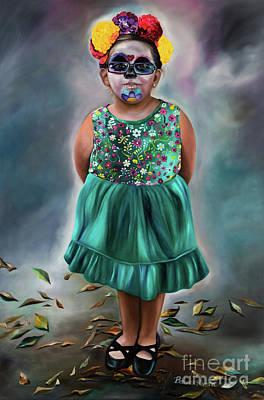 little Ms sunshine Poster by Barbara Rivera