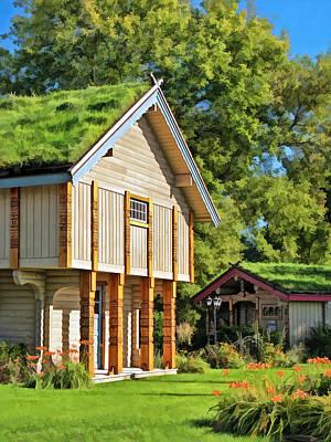 Little Norwegian Village On Washington Island In Door County Poster