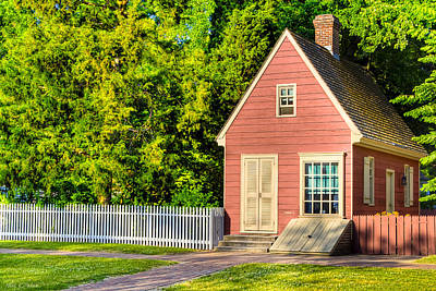 Little Pink Houses - Colonial America Poster by Mark E Tisdale