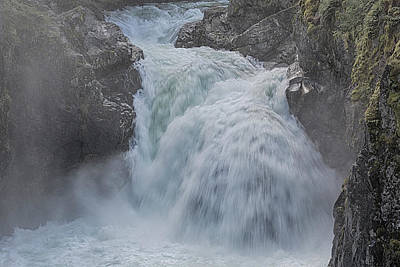 Poster featuring the photograph Little Qualicum Upper Falls by Randy Hall