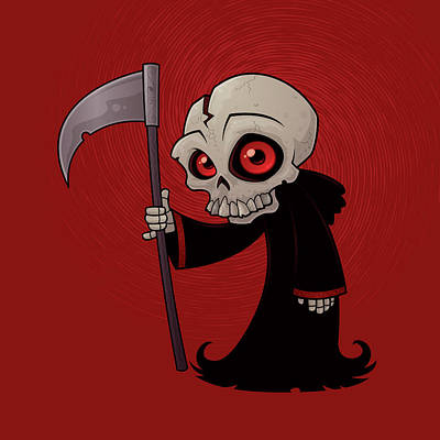 Little Reaper Poster by John Schwegel