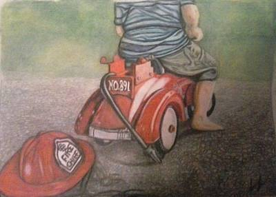 Little Red Engine Poster by Lori Lee