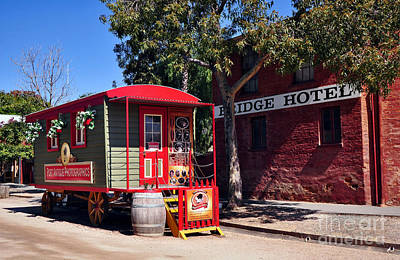 Little Red Wagon Poster by Kaye Menner