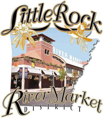 Little Rock River Market Vintage Photograph Poster