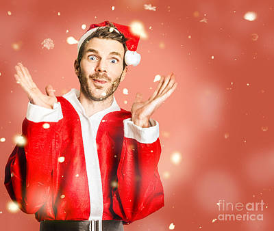 Little Santa Helper Spreading Christmas Cheer Poster by Jorgo Photography - Wall Art Gallery