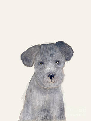 Poster featuring the painting Little Schnauzer by Bri B