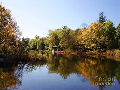 Little Shawme Pond In Sandwich Massachusetts Poster by Rod Jellison
