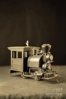 Little Steam Locomotive Poster by Edward Fielding