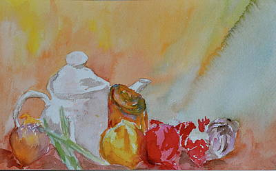 Poster featuring the painting Little Still Life by Beverley Harper Tinsley
