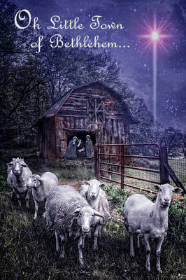 Little Town Of Bethlehem Poster