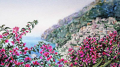 Little Town Positano Italy Poster