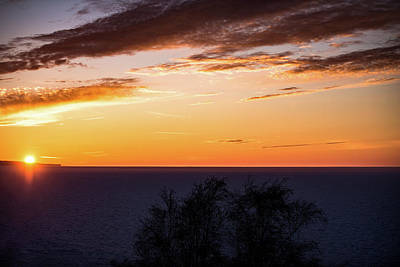 Poster featuring the photograph Little Traverse Bay Sunset by Onyonet  Photo Studios