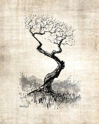 Poster featuring the painting Little Zen Tree 1820 by Sean Seal