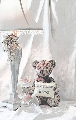 Live, Laugh And Love Bear Poster