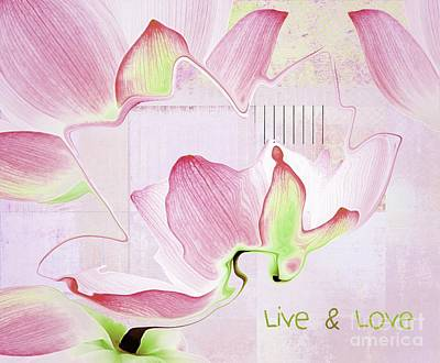 Poster featuring the digital art Live N Love - Absf17 by Variance Collections