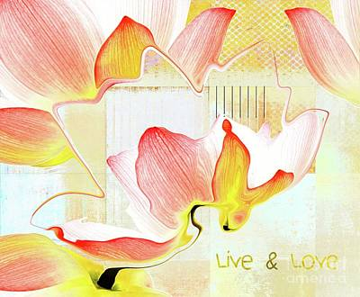 Live N Love - Absf44b Poster by Variance Collections