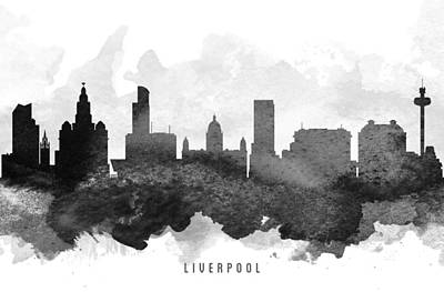 Liverpool Cityscape 11 Poster by Aged Pixel