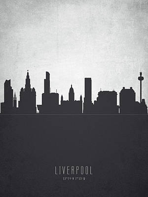 Liverpool England Cityscape 19 Poster by Aged Pixel