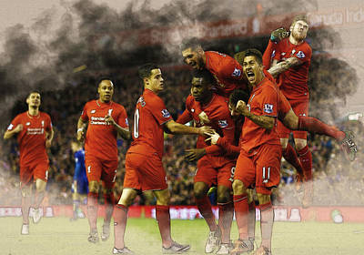 Liverpool V Leicester City Poster