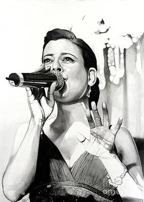 Livia In Watercolor Poster